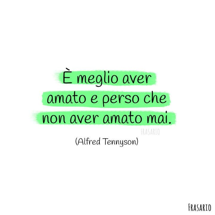 Frasi amore finito perso Tennyson