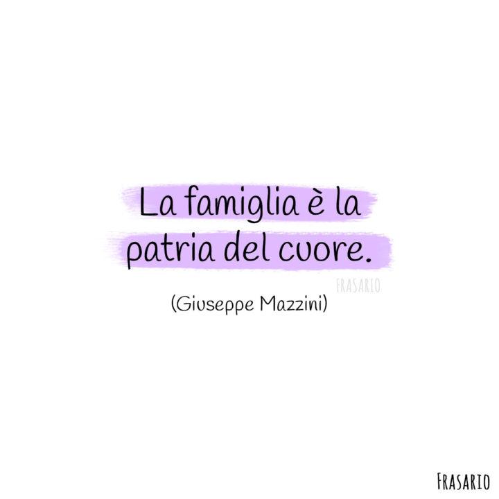 Frasi famiglia cuore Mazzini