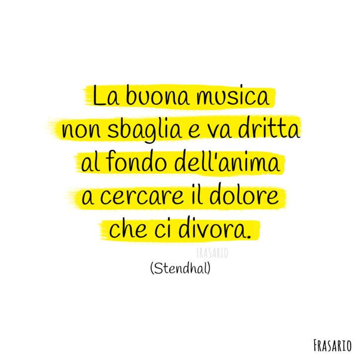 Frasi musica anima Stendhal