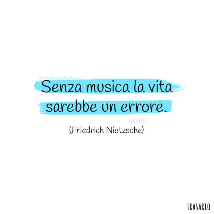 Frasi musica vita Nietzsche