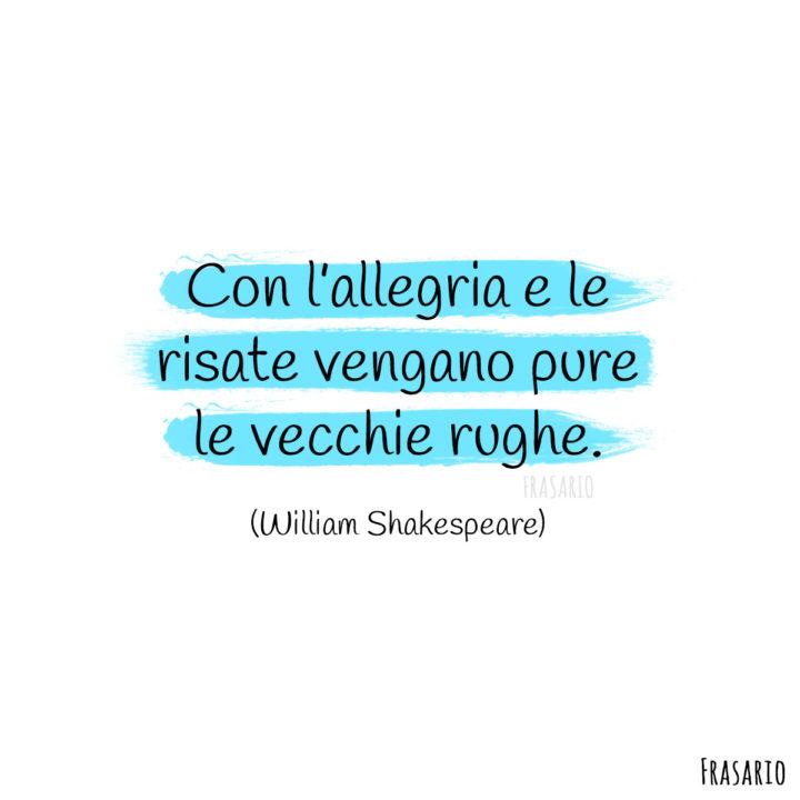 Frasi Buon Compleanno rughe Shakespeare
