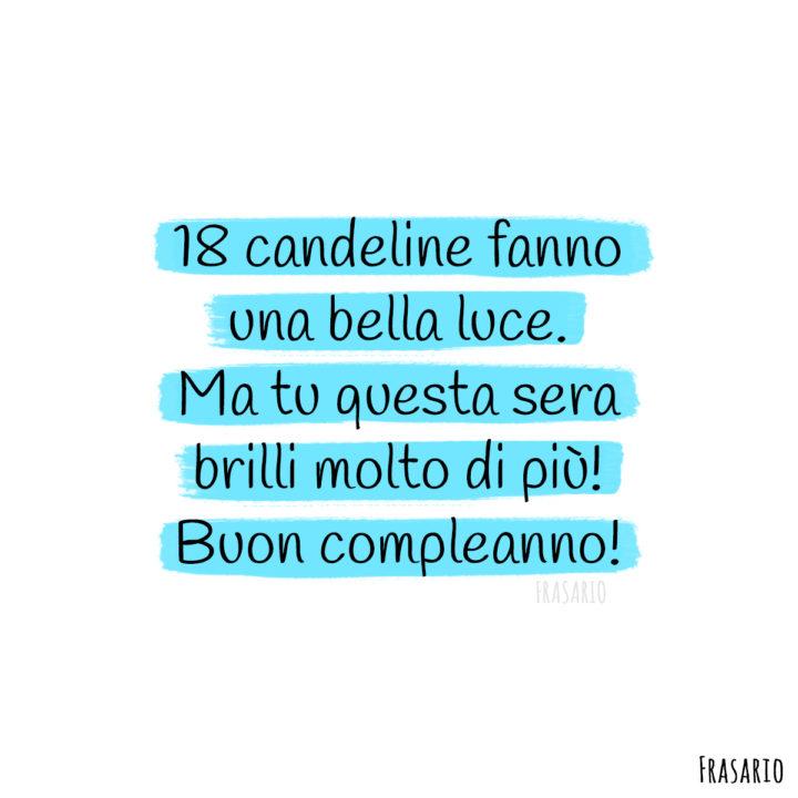 frasi compleanno 18 anni candeline