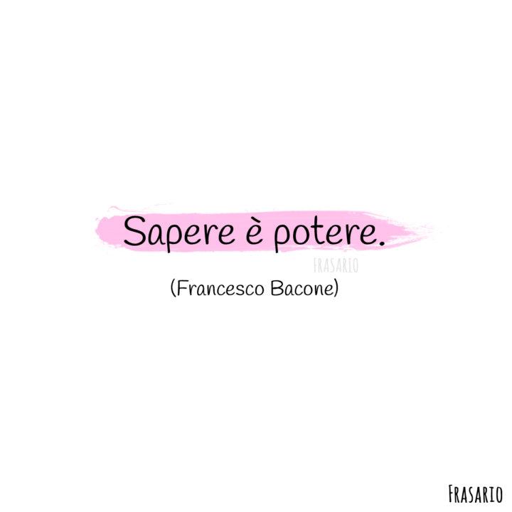 frasi latino famose sapere bacone
