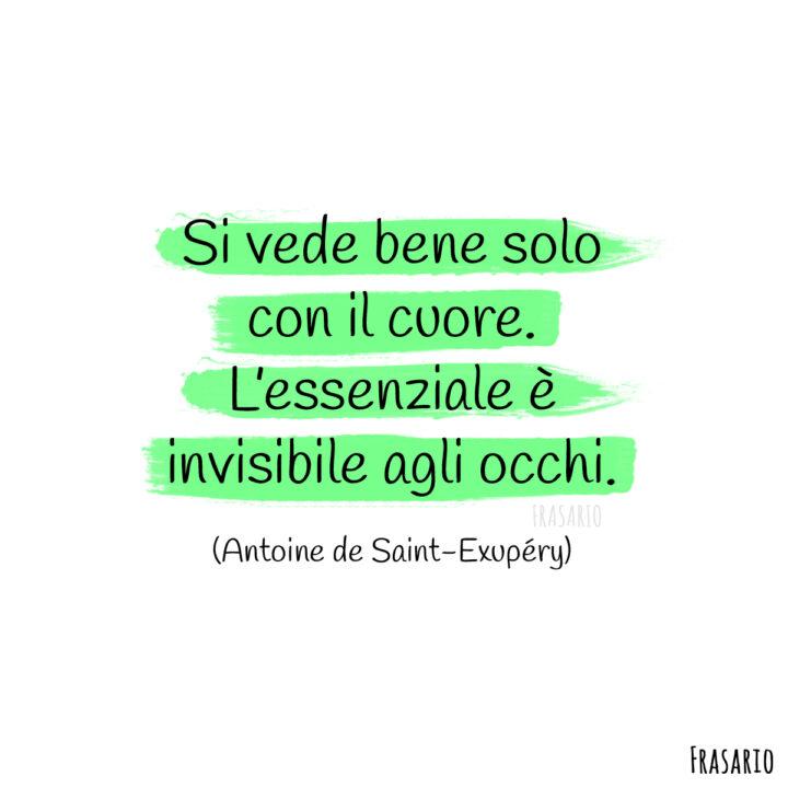 frasi instagram amore cuore saint exupery