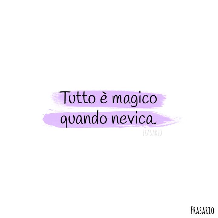 frasi neve magico