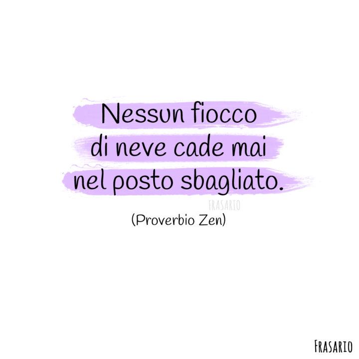 proverbi neve fiocco zen