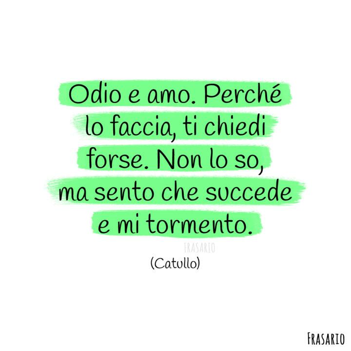poesie amore odio amo catullo